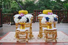 Regina & Jason | Rancho Las Lomas Wedding - Thai Water Ceremony Setup