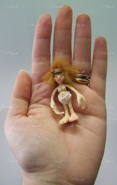 Troll handmade creation with polymer clay 5cm tall