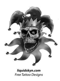 Jester Evil Joker Drawings | Skull Jester Tattoos
