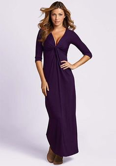 hmmmm would this maxi-dress make me look a little bit taller?! Nicole Knot Maxi Dress love the eggplant color