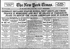 Image result for french newspapers beginning of ww1