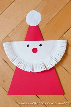 Mikuláš z papierového taniera | Neposedné nožnice Tree Skirts, Techno, Christmas Time, Holiday Decor, Toddlers, Education, Bricolage, Kids, Young Children