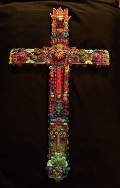 RESERVED The Fantastic Bead Mosaics  The Hallelujah by bluemoose,