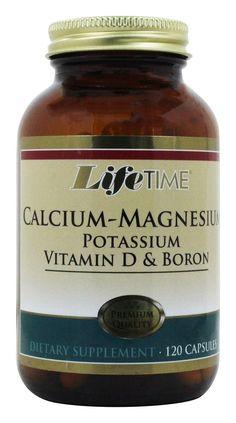 LifeTime Vitamins - Calcium Magnesium Potassium Vitamin D & Boron - 120 Capsules Calcium Magnesium, Metabolism Foods, Speed Up Metabolism, Boron Benefits, Banana Health Benefits, Calcium Deficiency, Healthy Body Weight, Good Foods To Eat