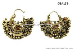 afghanistan tribal earrings kuchi banjara jewellery bellydance costuming earrings