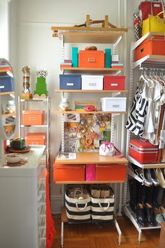 Efla shelving from the Container Store