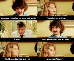"""When Ben and Karen went to war: 21 Times """"Outnumbered"""" Was Best British TV Show Of All Time British Memes, British Comedy, British Humour, British Sitcoms, Tv Quotes, Movie Quotes, Savage Kids, Little Britain, Funny Memes"""
