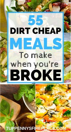 Look no further for extremely cheap easy meals on a budget. Fantastic budget recipes for all the family. These healthy cheap dinner recipes are perfect for families,, for two and for college students. Cheap Healthy Dinners, Dirt Cheap Meals, Cheap Meals To Make, Cheap Dinners, Healthy Family Meals, Frugal Meals, Budget Meals, Frugal Recipes, Easy Healthy Recipes