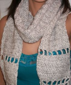Womens fashion winter scarf in light gray. $16.99, via Etsy.