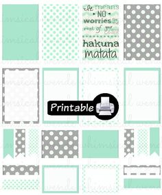 New BIG Happy Planner Hakuna Matata PDF PRINTABLE Planner Stickers Erin Condren…