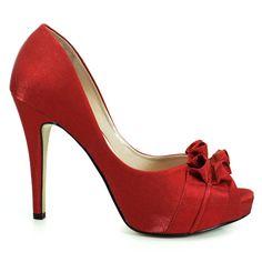Sapato Peep Toe Noiva Feminino Laura Porto - Carmin