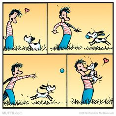 Go for a walk! Or play fetch! It's Take a Walk in the Park Day #MUTTSManifesto