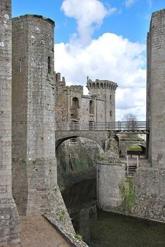 Raglan Castle, Wales  This castle resisted the attempts to demolish it rather well. Testament to how well it was construct