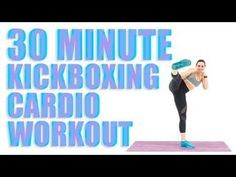 30 Minute Kickboxing Cardio Workout - Healty fitness home cleaning I Love Kickboxing, Cardio Boxing, Kickboxing Workout, Tabata, Kickboxing Women, Kick Boxing For Beginners, Workout For Beginners, Home Exercise Routines, At Home Workouts