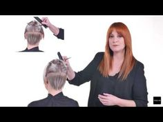 SHORT HAIRCUT triangular fundamental shape with precision - YouTube