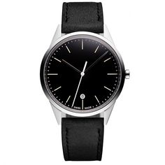 Uniform Wares Date Watch In Black Big Watches, Sport Watches, Luxury Watches, Cool Watches, Watches For Men, Uniform Wares, Mens Fashion Magazine, Mens Fashion Sweaters, Best Mens Fashion