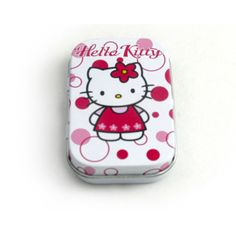 cute Hello Kitty metal hinged tin box for mint