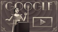 Heute ist der Geburtstag von Clara Rockmore - sie war zu Beginn des 20. Jahrhunderts eine Virtuosin auf einem elektronischen Musikinstrument namens Theremin. Probiert es aus und spielt Ihre Melodie nach - mit dem heutigen Google Doodle...