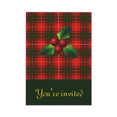 Clan Bruce Tartan Holiday invites