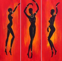 African Abstract Art, African Art Paintings, Dance Paintings, Africa Painting, Africa Art, African Drawings, Haitian Art, Indian Folk Art, African American Art