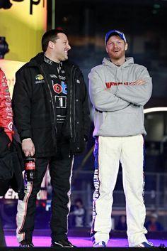 Tony Stewart and Dale Earnhardt Jr. Ok, I like JR too... 2 of the best drivers