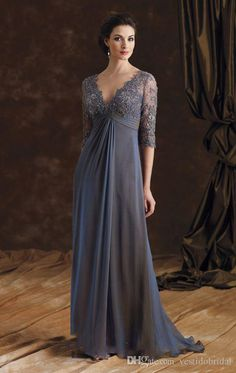 Never miss the chance to get the best mother dress in wedding,mother dresses plus sizeand mother for the bride dresses on DHgate.com. The cheap vintage lace chiffon gray mother of bride dresses 2016 v neck half sleeve empire waist floor length women evening formal dress prom gowns is for sale in vestidobridal and buy it now!
