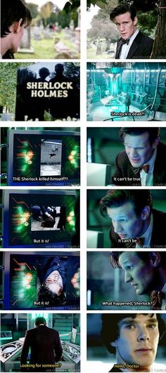 """Me-""""SQUEEEEEEEEEEEEEE!!!!!!!!!!"""" <<< and then they go me solve a crime which ends up being that someone is actually an alien/ cybermen/ dalek in disguise, but no one let Moffat near Sherlock..."""