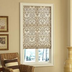 1000 images about roman shades kitchen on pinterest for Fabric shades for kitchen windows