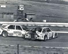 Famous crash between Sarel vd Merwe (Ford Escort vs. Ian Sheckter (BMW CSL) at Kyalami Escort Mk1, Ford Escort, Ford Capri, Bmw 2002, Motor Sport, Car Ins, Race Cars, Old School, South Africa