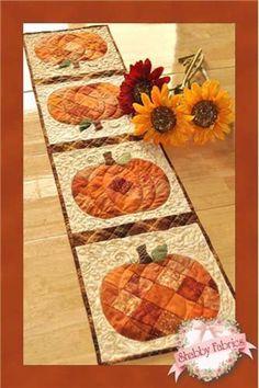 Table Runner Pattern Patchwork Pumpkin by GabbysQuiltsNSupply