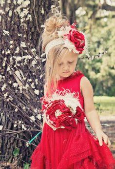 Couture Winters Tale Crimson Headband