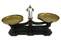 Antique English Cast Iron Kitchen Scale
