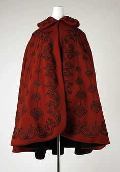 Cape 1891, American, Made of silk and wool
