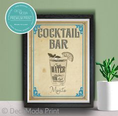 Mojito Bar Sign Print
