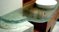 Fusion Glass Countertop brookscustom.com #fusionglass #textured #countertop #kitchen