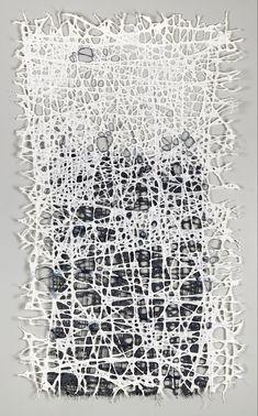 Woven Pieces — Jennifer Davies Textile Fiber Art, Textile Artists, Bird Netting, Abstract Paper, Collage Art Mixed Media, Textiles, A Level Art, Learn Art, Encaustic Art