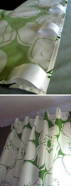 Passants en tissu pour rideaux