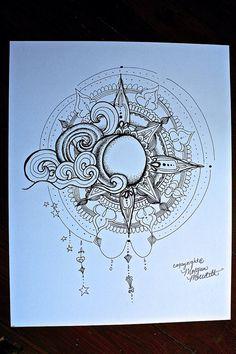 Sonne und Mond-Print von MorgansCanvas auf Etsy
