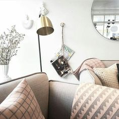Feminine summer colors   Knitted pillows and soft blankets [also useful for outdoor living] from the Danish label FUSS   The picture is from my favorite store in Iceland @snuranis [thanks]  #scandinavianlifestyle #peaceful #danishdesign #nordicfelling #delicatedetails #interiorforyou #formexstockholm
