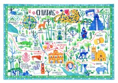mpliego: A map of Chiapas, Mexico.