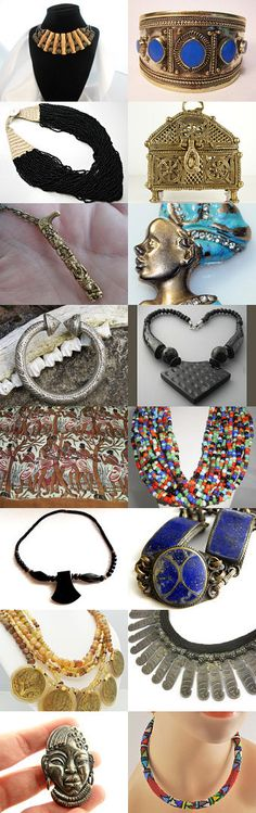 Tribal Treasures. Tribal treasures from the shops of the Vintage Vogue Team.... Curator: Cherie from https://www.etsy.com/shop/ElegantArtifacts