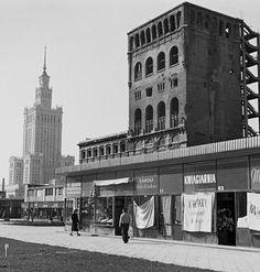 Gerald Howson, ul. Zielna, PAST-a, w tle PKiN, Warszawa, 1959, fot. archiwum Geralda Howsona / DSH #geraldhowson#warszawa