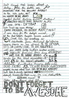 maddasahatterr:    DFTBA by Hank Green lyrics  This is what I do during biology….and then I make up for it with Crash Course and SciShow! Kind of…