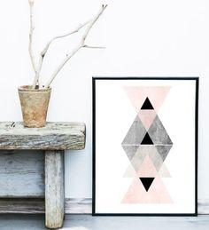 Art scandinave Art imprimable Triangle imprimé Art par exileprints