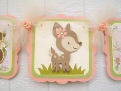 Deer baby shower banner it's a girl banner by NancysBannerBoutique