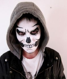 Skull Halloween Makeup for Men