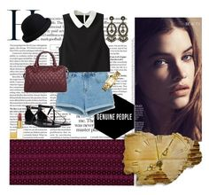 """""""Chic Maroon"""" by fashionista-jaygee ❤ liked on Polyvore featuring Zara, Pieces, Tory Burch and Tom Ford"""