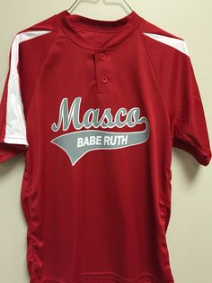 Masco babe Ruth printed front