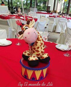 Circus / Carnival Birthday Party Ideas | Photo 56 of 63 Circus Theme Centerpieces, Circus Party Decorations, Carnival Themed Party, Birthday Party Centerpieces, Carnival Themes, Carnival Costumes, Dumbo Birthday Party, Carousel Birthday Parties, Lumberjack Birthday Party