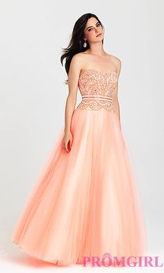 Strapless A-Line Gown by Madison James at PromGirl.com